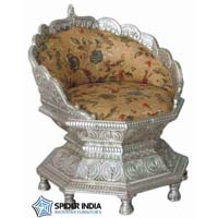 Royal Silver Wedding Throne Chairs