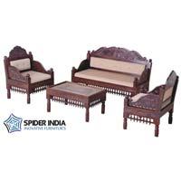Teak Wood Carved Sofa Set