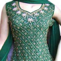 Ladies Salwar Suit (Green)