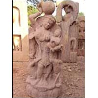 Sandstone Apsara Statue 02
