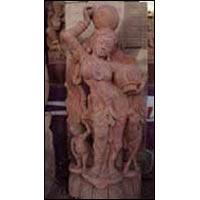 Sandstone Apsara Statue 03