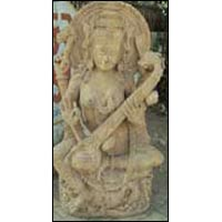 Sandstone Saraswati Mata Statue