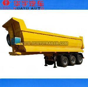 3 axle dump semi trailer