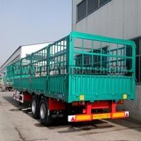 3 Axle Stepwise Side Wall Open Truck Trailer