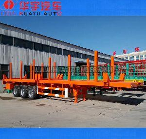 3 axle timber flat bed semi trailer