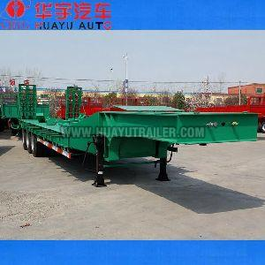 3 Axle truck low bed semi trailer from china