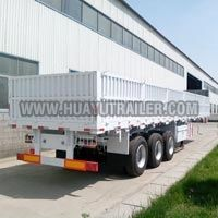 3 axle wall side semi trailer