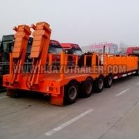 3 Axles Lowbed Cargo Truck Semi Trailer (65Ton)