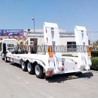 3 Axles Lowbed Cargo Truck Semi Trailer (80Ton)