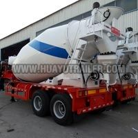 concrete mixer semi trailer with double axles