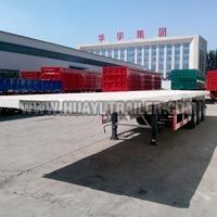 Flatbed 2 Axle Semi Trailer