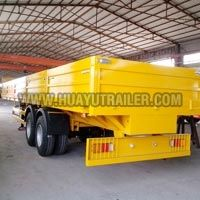 flatbed semi trailer with side wall