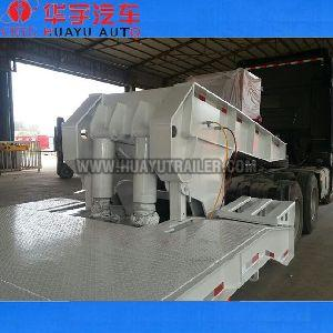 low bed semi trailer goosneck can be removable
