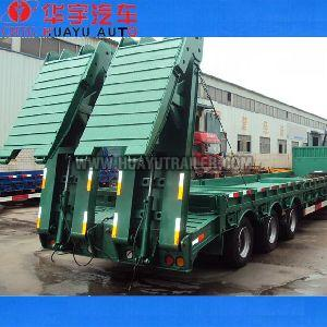 low bed semi trailer with hydraulic pressure ladder