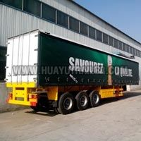 Three Axle Cargo Wall Side Semi Trailer (60Ton)