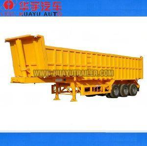 Three Axle dump semi trailer with HYVA  cylinder