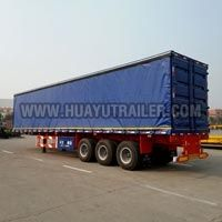 Three Axle Stake Semi Trailer for Cargo Transport