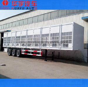 Tri Axle box semi trailer use for beer transport
