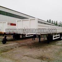 Tri Axle Cargo Trailer with side board