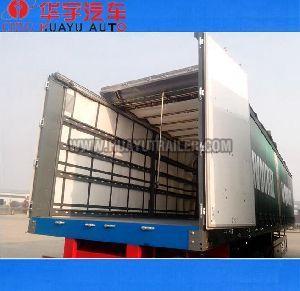 Tri Axle curtain semi trailer
