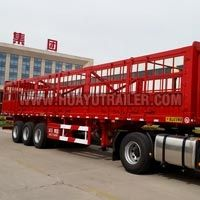 Tri Axle Steel Drop Side Semi Trailer (40Feet)