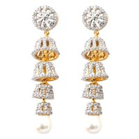 American Diamond Earrings (wje125a)