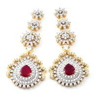 American Diamond Earrings (wje68)