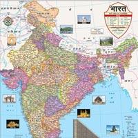 18x23 India Maps