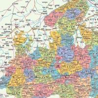 22x28 Madhya Pradesh Maps