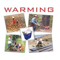 Small Cut & Paste Global Warming Stickers