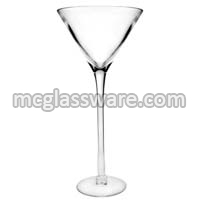 24 Inch Height Glass Vase Martini for Table Centerpieces