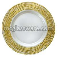 Arizona Gold Glass Charger Plates