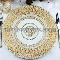 Golden Harvest Charger Plates