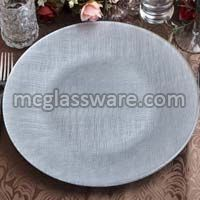 Pamuk Silver Glass Charger Plate