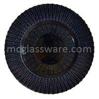 Quantum Black Glitter Glass Charger Plate