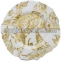 Vanessa Gold Glass Charger Plates
