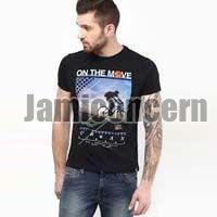 Mens Plain & Printed Round Neck T-Shirts