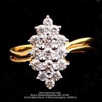 Ladies Light Weight Diamond Rings(ATLR-TP393)