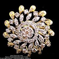 Ladies Party Wear Diamond Rings(ATLR-CD12)