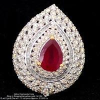 Ladies Party Wear Diamond Rings(ATLR-KM03)