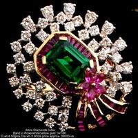 Ladies Party Wear Diamond Rings(ATLR-N329)