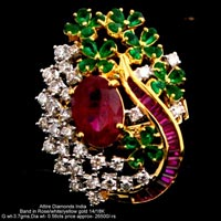 Ladies Party Wear Diamond Rings(ATLR-N331)