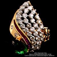 Ladies Party Wear Diamond Rings(ATLR-N343)