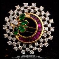 Ladies Party Wear Diamond Rings(ATLR-N376)