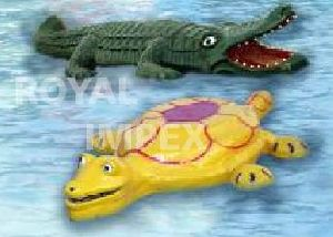 Floating Crocodile and Tortoise