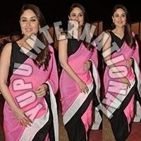Kareena Fancy Pink Saree
