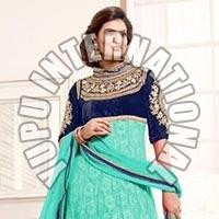 Sayali Bhagat Light Blue Georgette Semi Stitched Anarkali Suit