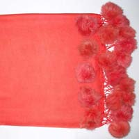 Pashmina shawls with Fur Balls