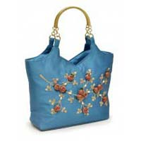 Indigo Metal Handle Bag