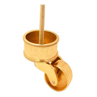 Round Rope Cup Castor with m8 bolt polish brass
